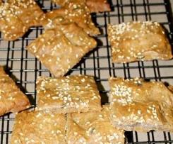 Buckwheat and Sesame Crackers