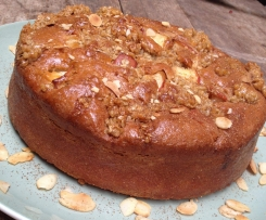 Spiced Apple Flapjack Cake