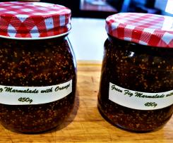 Green Fig Marmalade with Orange