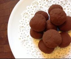 Dark Chocolate Fruitcake Truffles