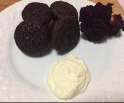 Cocoa Zucchini mini muffins