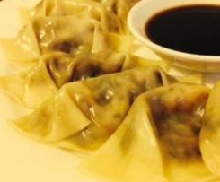 Vegetarian (or pork, or chicken) dumplings