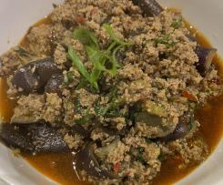 Stirfry Minced Pork with Eggplant