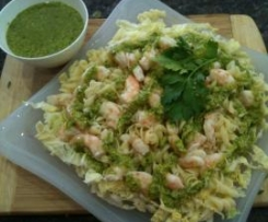 Gluten Free Lemon Prawn & Pasta Salad w Rocket Pesto