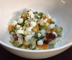 Chorizo, Pumpkin and Goat's Cheese Risotto