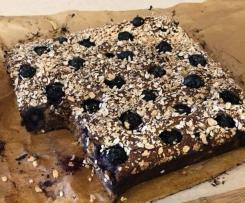 Blueberry, Banana and Oat Breakfast Bars