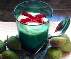 Feijoa, White Chocolateand Lemon Mousse