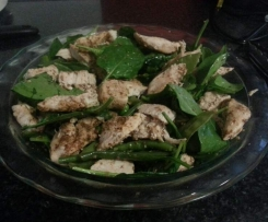 Chicken & Green Salad with Coriander Butter