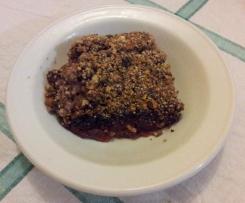 Rhubarb and Apple Crunch
