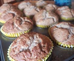 Banana Muffins using leftover Almond Pulp from Almond Milk (vegan)
