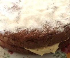 Ginger Fluff Sponge Cake