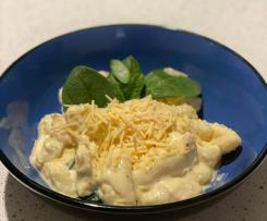 Creamy chicken gnocchi with spinach