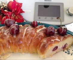 Cherry Ricotta Brioche Braid