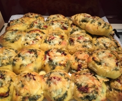 Variation of Savoury Scrolls with Pumpkin Dough