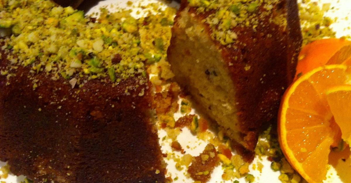 Macadamia & Pistachio Orange Syrup Cake