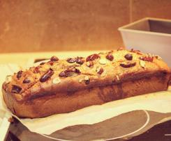 Banana, Date and Hazelnut Loaf