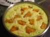 creamy pesto chicken and pumpkin risotto