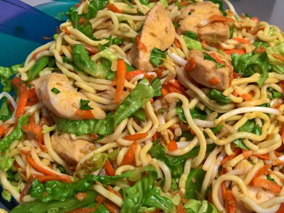Can Asian chicken noodle salad think, that
