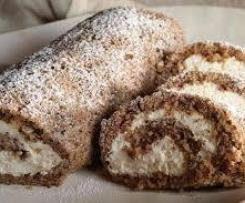 Chocolate speckled roulade