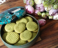 Almond Macha Green Tea Cookies