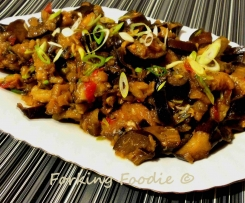 Sea-spiced Eggplant (Aubergine) with Steamed Rice