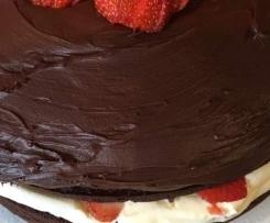 Kellys Sour Cream Chocolate Cake