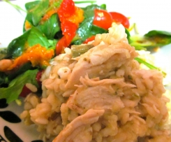 Chicken and asparagus brown rice Risotto