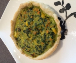 Silverbeet & bacon quiche (dairy free)