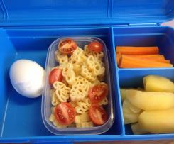 Easy 11 minute lunchbox combo - protein carbs and veggies!