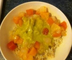 Diana's Fruity Chicken Curry