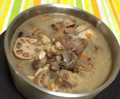Chinese Pork Bone Peanut & Lotus Root Soup