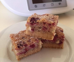 Raspberry and White Chocolate Slice