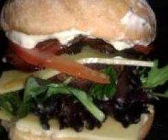 Brie Stuffed Burgers