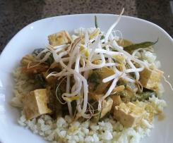 Vegan green curry