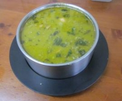 Cheese & Leek Soup with mince meat