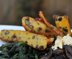 Black Bean & Wild Rice Polenta Wedges