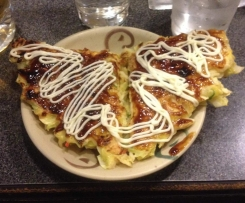 Japanese Okonomiyaki - Vegetable Pancake