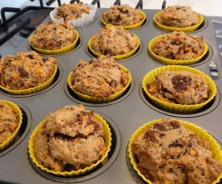 Healthy Sweet Potato & Choc Chip Muffins