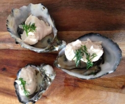 Oysters Dub (Oysters with Smoked Salmon Mousse)