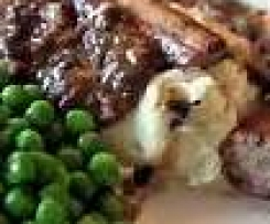 Bangers and Mash with Mushroom sauce