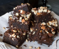 Salted Almond Brownies