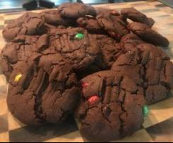 Chunky Choc M&M Biscuits