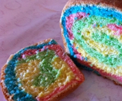 Rainbow bread - the kids love it!