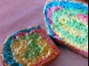 Rainbow bread - the kids love it!
