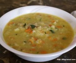 Korean style Vegetable Porridge