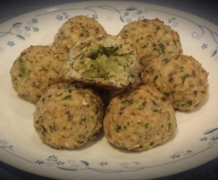 Avocado Stuffed Chicken Meatballs
