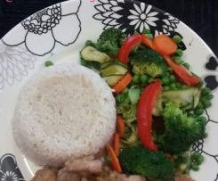 Honey Soy Chicken, Rice & Veggies