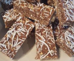 Raw choc coconut bars date free- ThermoSize Your Life