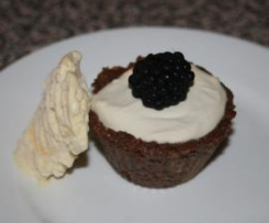 Bitter Chocolate and Blackberry Tarts