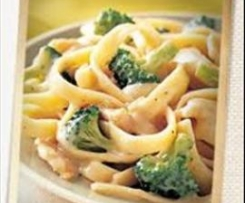Yummy Chicken & Broccoli Fettuccine